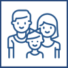 Icon for financial support for young and old